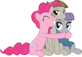 MLP Vector - Pinkie, Mudbriar and Maud Pie by jhayarr23