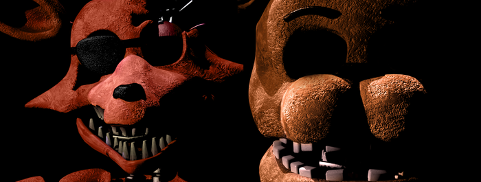 Fixed Withered Freddy and Foxy by YinyangGio1987