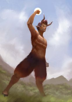 [Commission] Satyr by mangamie