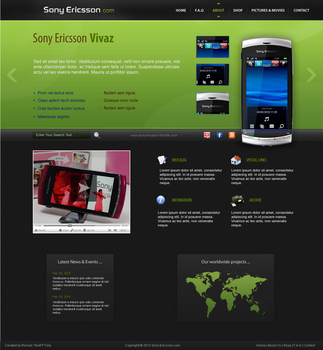 Sony Ericsson fan site by swift20