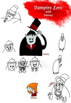 Vampire Lore with Varney - sketches by Dhaem17