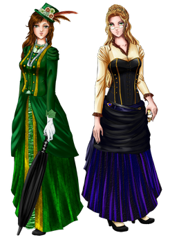Victorian Ladies by Shenira