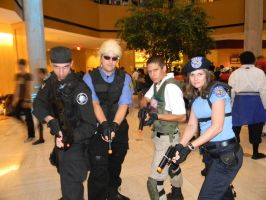 Mitchell and 3 members of S.T.A.R.S. by scoldingspirit84