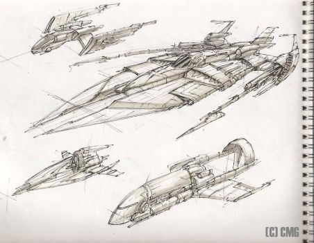 Space Ships 2 by MeckanicalMind