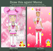 Before and After Meme: Maiden Pinku by Miss-Gravillian1992