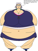Sakuya Izayoi Fat by Dimensional-Expander