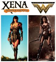 Lucy Lawless' Xena and Gal Gadot's Wonder Woman by StevenEly