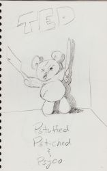 Ted the Psycho Teddy Bear by doncroswhite