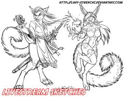 March Livestream Commissions 8 by lady-cybercat