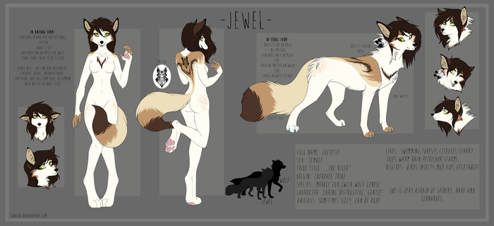 Jewel ,,The River'' official character sheet by Sinasni