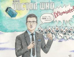 John Oliver as the 13th Doctor Who by The-Mistress-of-Time