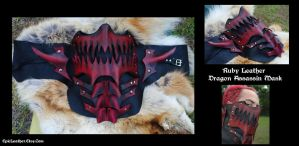 Ruby Dragon Assassin Mask by Epic-Leather