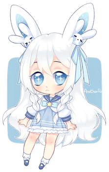 Chibi for Whitepaperrabbits by AnotherPie