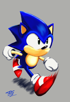 Sonic The Hedghog by TrueRetroSonic