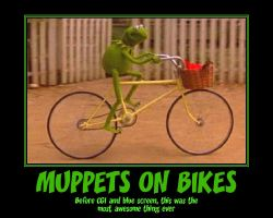 Muppets on bikes poster by YuiHarunaShinozaki