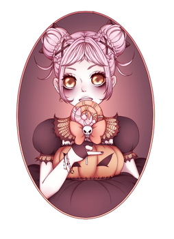 .:Reva:. Happy Halloween ! by DomesticPigeon