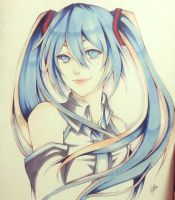 Hatsune Miku - Vocaloid by thumbelin0811