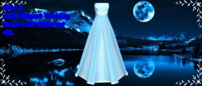 Sims 3 Elegant Wedding Dress a bit differen MMD DL by xXMMDStoreXx