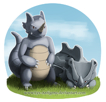 #111-112 Rhyhorn and Rhydon