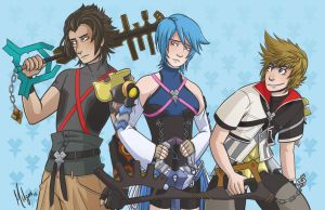 Kingdom Hearts Pre-Trio by midgaardian
