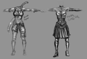Vampire Female Body Concepts by thadeemon