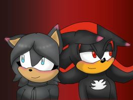 April and Shadow the Hedgehog by Soshadilver