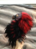 Commissioned Red Bearded Vulture by darkangellord69