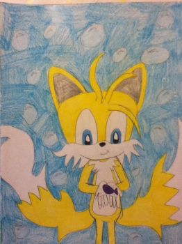 Tails Underwater 2 by tailsthefoxlover715