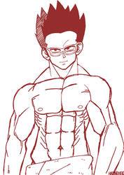 Gohan gets ready for the Tournament of power by Neonspectrum