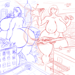 Bloober - Giantess Rampage by Alovera-K