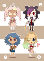 GAKKO GIRLS ADOPTABLES //CLOSED// by GiteRu