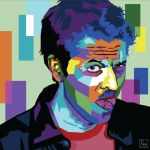 WPAP Vector Portrait - Misha Collins by EmmaEsme