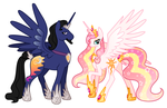 King and Queen of Equestria by AlexKingOfTheDamned