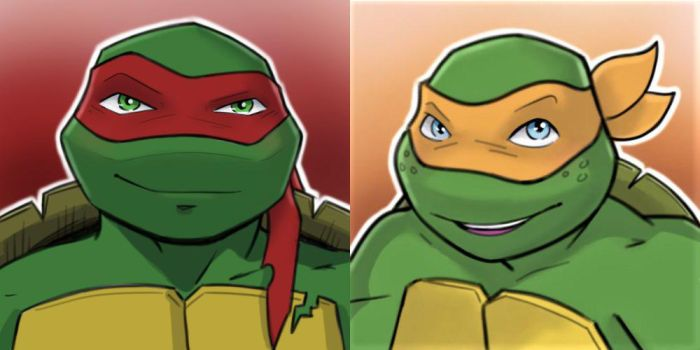 2012 Raph and Mikey by AlessandraDC