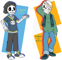 Skele-twin Verte-bros by Flamongirl13