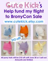 Pony Hat Sale! $10 off! Help me get to BronyCon. by cutekick