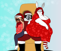 Sitting on Santa Lap by AlexanderSie
