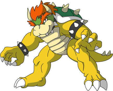 Bowser color by Wakerra