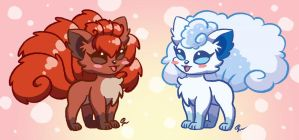 Vulpixes by Scorpius02