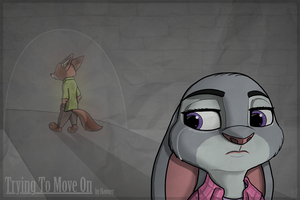 (Commission) ''Trying to move on'' by Hawner by HyenaTig