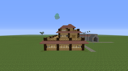 Minecraft Homestead (Side View) by PokemonSoldier