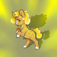 Floral pony adopt OPEN by Darumemay
