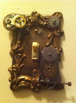 Steampunk'ed Switch Plate by Deathsdoor-inc
