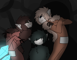 .:OC:. Typical day in caves by Rockielel