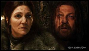Catelyn And Eddard Stark : Game of Thrones by RottonNymph