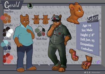 Official Gerald Reference Sheet by MasterDaye