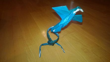 Origami Blue Firebird by taerkitty