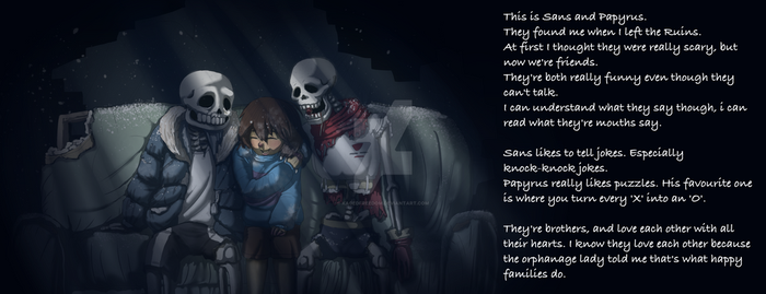 Undertale- Sans And Papyrus. (Spoilers~~!) by KagedFreedom