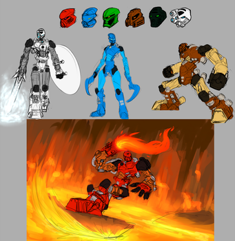 Bionicle Sketches by HallowAngel
