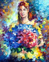 Flowers From Colombia by Leonid Afremov by Leonidafremov